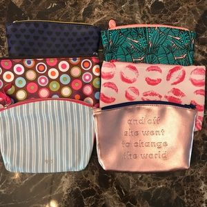 Lot of 6 Cosmetic Bags